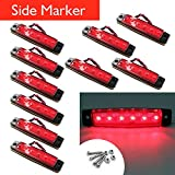 10/x 24/V 9/LED posteriore marcatore rosso luci laterali per camion caravan Chassis ribaltabile Bus Bus camper
