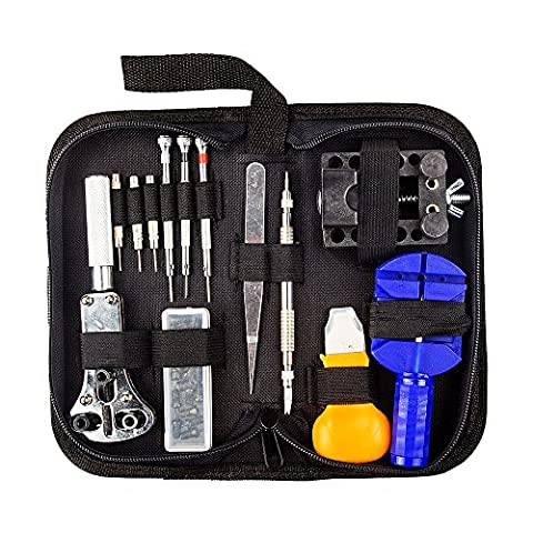LANIAKEA 30Pcs Portable Watch Repair Tool Kit Set Back Case,