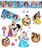 Unbekannt 14 TLG. Set _ XL Fensterbilder + Wandborte -  Disney Princess - Prinzessin  - Sticker Fenstersticker Aufkleber - selbstklebend + wiederverwendbar - Fensterb..