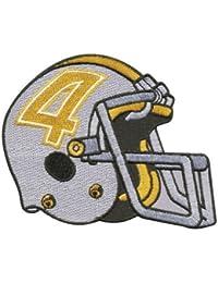 Parche bordado diseño de nitrógeno - casco de fútbol americano - Gr, 11 cm x 9 cm aprox (04491) unisex de fútbol béisbol Estados Unidos de América