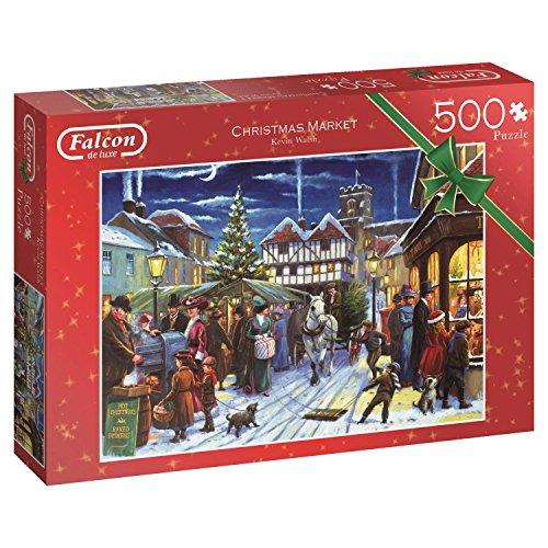 Jumbo Falcon de Luxe Christmas Market 500 pcs Puzzle - Rompecabezas (Puzzle Rompecabezas, Vacaciones, Adultos, Niño/niña, 12 año(s), Interior)