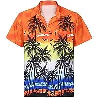 Camisa De Hombre De Vestir De Manga Corta Estampada De Hawaiana Playa Camiseta Casual De Vacaciones Regular Fit Bolsillo Blusa Tops