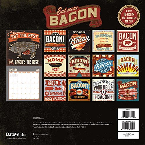 Bacon 2016 Calendar