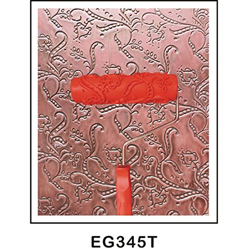 Magideal 7 pollici pittura in rilievo rullo di vernice con manico in plastica multi modello - 15