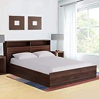 HomeTown Alyssa Engineered Wood Box Storage King Size Bed - (Wenge)