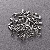 SUPVOX 20 Stück Karabinerverschluss Kettenverschluss Schmuckverschlüsse Schmuck Karabiner Verschluss für HalskettenArmband DIY Schmuckherstellung (Silber)