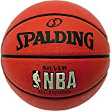 61lUCnhrTRL. SL160  - Spalding Kids NBA Outdoor Basketball - Silver, Size 5 sports best price Review uk