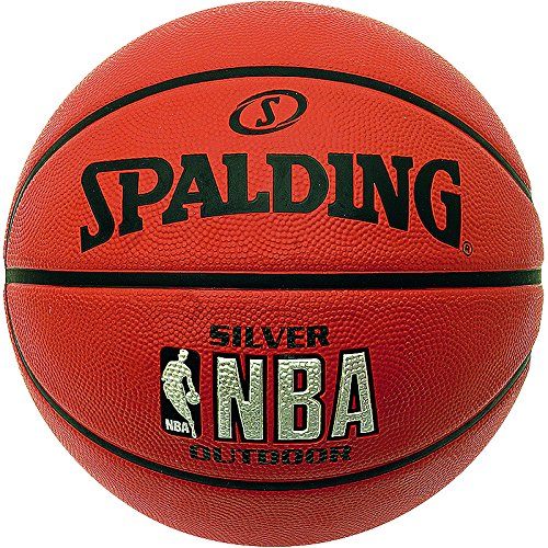 Spalding Basketbälle NBA Silver Outdoor, 5 (Leder-kinder-basketball)