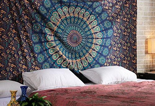 arazzo-hippie-cotone-mandala-copriletto-etnico-bohemien-tappeti-arazzo-da-parete-indiano-verde-tapes