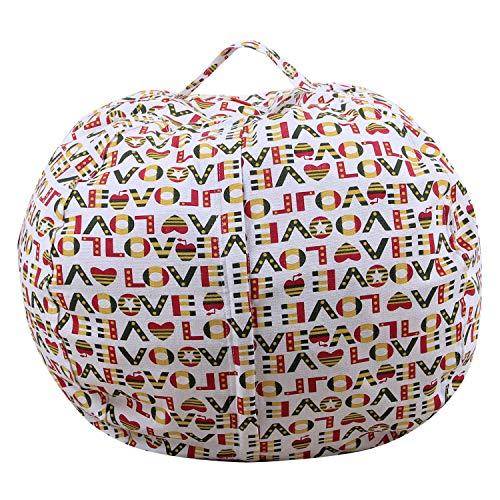 Stofftier Bean Bag Chair Sofa Cotton Canvas Sack Spielzeug Organizer Für Kinder Lounger Möbel...