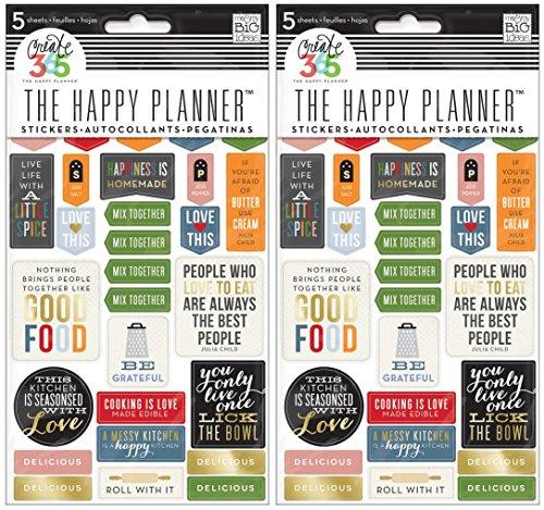 Me & My Big Ideas Good Food Planer Aufkleber, 2 Pack, Gold (Planer Aufkleber Gold)