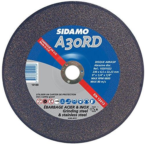 SIDAMO–CAJA DE 10DISCOS A30RD MUELA D DESBASTE ACERO/ACERO INOXIDABLE SIDAMO 125MM