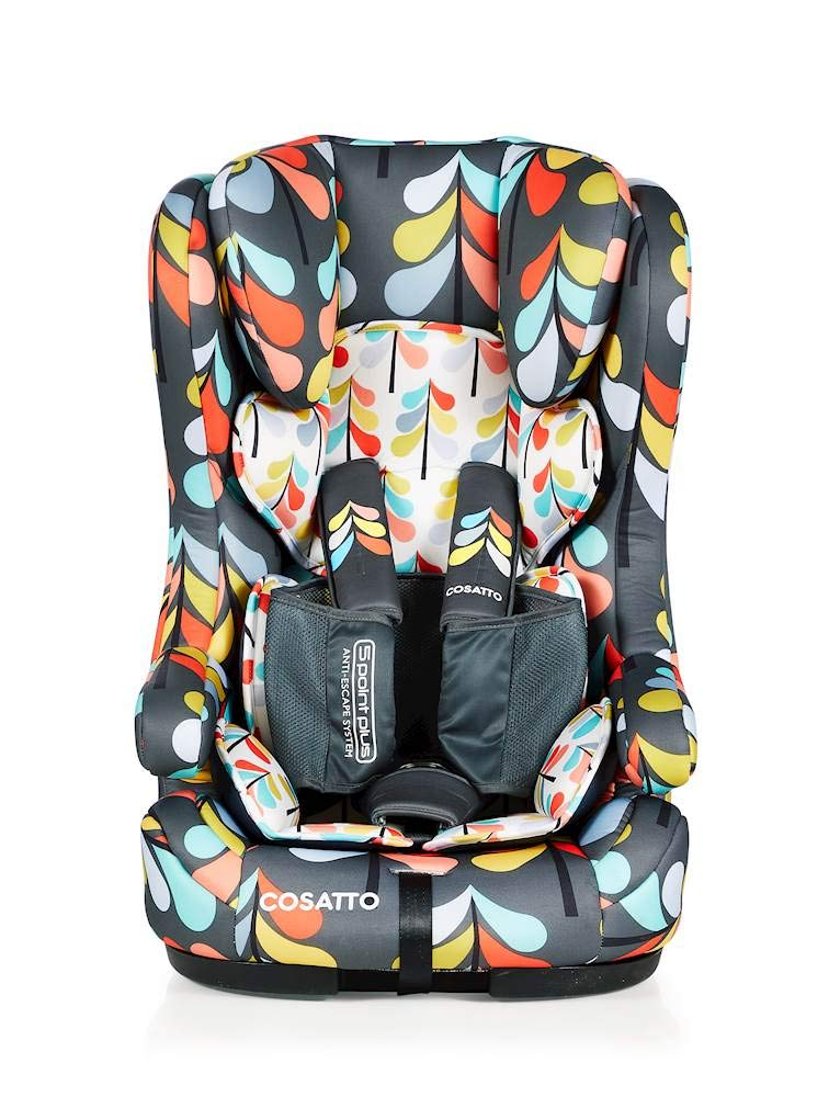 Cosatto Hubbub Isofix Anti-Escape Group Carseat Cosatto Hubbub's that exceptional creature - a group 123 car seat with ISOFIX; this means you can just click and go-no reinstalling; suitable from 9 kg to 36 kg (group 123) Hubbub incudes patented five point plus anti-escape system, reduces harness escapes by 90 percent Side impact protection, with six position headrest; hubbub grows with your child; out pop-off squishy seat liner grows too; it is also reversible 1