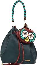 Chumbak Owl Eyes Drawstring Hobo Sling Bag