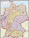 Pinnwand im Alurahmen: PLZ-Deutschlandkarte