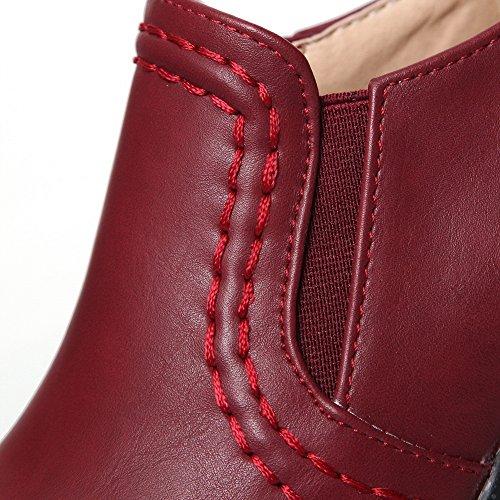 Adee , Sandales Compensées femme Rouge - Rouge bordeaux/blanc