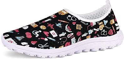 Showudesigns Chaussures de Sport sans Lacet Mesh Chaussures de Marche Antidérapant et légères pour Femmes