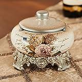 XOYOYO Das Wohnzimmer Einrichtung Aschenbecher Deckel mit einem Europäischen Stil der alten Art und Weise kreative Persönlichkeit Geschenk Keramik Aschenbecher, Aschenbecher mit Deckel