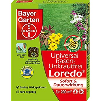 bayer universal rasen unkrautfrei loredo quattro 400ml garten. Black Bedroom Furniture Sets. Home Design Ideas