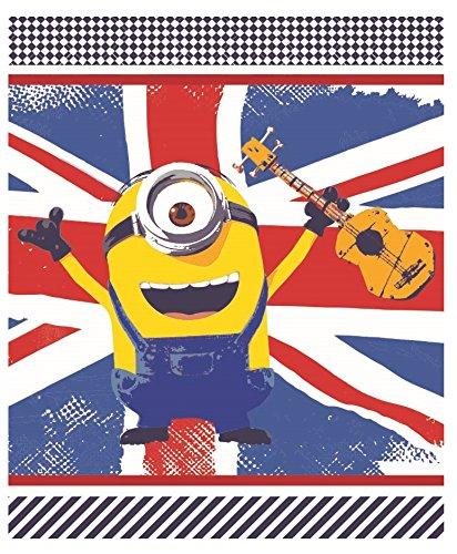 Die Minions Plaid Fleecedecke 120 x 150 cm fleece Blanket Dekoidee Flagge des Vereinigten Königreichs