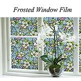 HYXL Smerigliata pellicola finestre Vetrofania privacy Pellicola elettrostatica vetro Carta opaca finestra Bagno sole finestra vetro dell'autoadesivo-B 75x100cm(30x39inch)