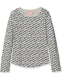 Scotch & Soda Mädchen T-Shirt Long Sleeve Tee with AOP & Chest Artwork