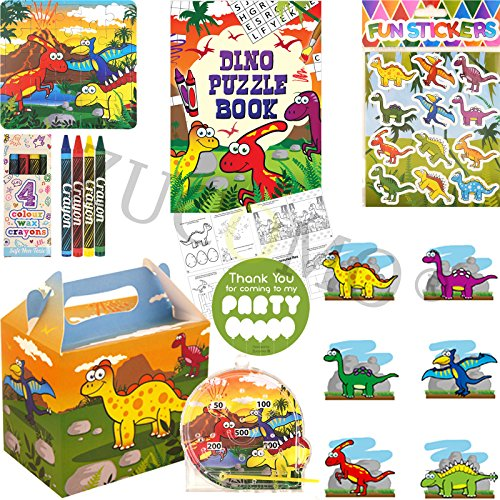 Image of Boys Girls Pre Filled Party Bags For Children Luxury Themed Birthday Parties (Dinosaur Party Bag)