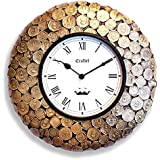 "Craftel 12"" Antique Coin Antique Wall Clock,(Antique Gold)"