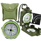 Armee BW Marschkompass Professioneller Bundeswehr Militär Kompass Peilkompass Taschenkompass mit Lupe Tragschlaufe