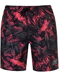 Speedo Mens Print Check Swim Shorts Drawstring 3 Pockets