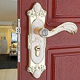 vanme dormitorio puerta sólida de madera tirador de puerta antiguo Continental de bloqueo de hardware puerta interior jardín ámbar blanco
