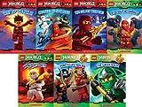 LEGO Ninjago Reader Pack: 7 Book Set: #1: Way of the Ninja / #2: Masters of Spinjitzu / #3: The Golden Weapons / #4: Rise of the Snakes / #5: A Ninja's Path / #6 Pirates vs. Ninja / #7 The Green Ninja