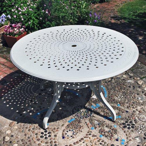 Lazy Susan muebles - Rosie 180 cm redondo 10 Plazas de aluminio ...