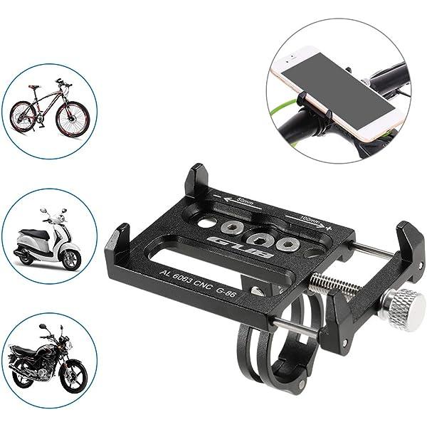 kbxstart Bicycle Aluminum Alloy Mobile Phone Holder Mounts Mountain Bicycle Holder