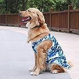 BKPH Goldener Apportierhund Kleidung Sommer dünne Weste Labrador Mittelgroßer Hund Samojede Border Collie, Blue, XL