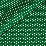 Punkte Baumwollstoff Meterware grün weiß Tupfen Dots Deko