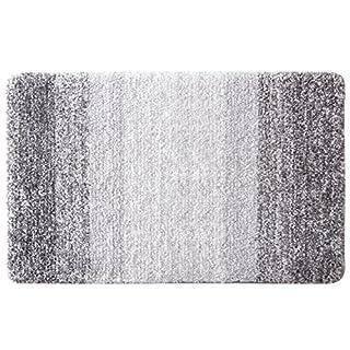 Furnily Tapis de Bain Anti-Glissant Antibacterienne Microfibre Carpette Souple pour Salle de Bain (50 x 80 cm, Gris)