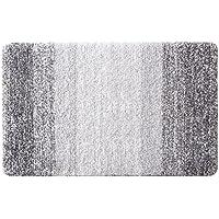 Furnily Tapis de Bain Anti-glissant Antibacterienne Microfibre Carpette Souple pour Salle de Bain (40 x 60cm ,Gris)