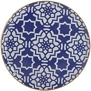 Porland Morocco Desen7 Düz Tabak Mor 20cm, Porselen
