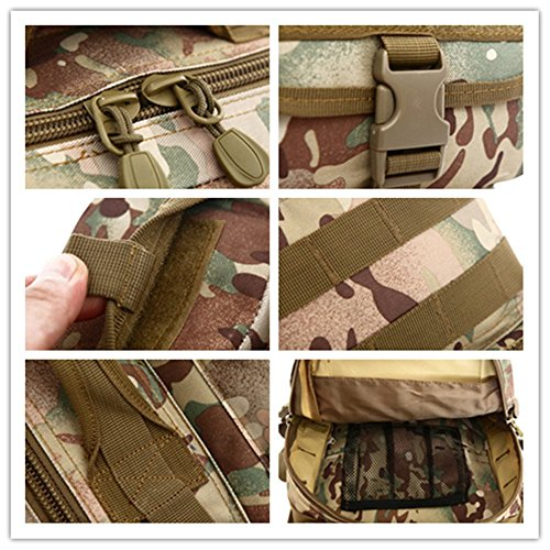, NEU Unisex Outdoor Sports Camouflage Tactical Rucksack Frauen Single Schulter Paket Brust Bag Herren Camping Wandern Multifunktional Messenger Taschen - ACU digital