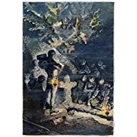 Verne: 20 000 Leagues 1870. 'A Coral Cemetery.' Engraving After A Drawing By Alphonse De Neuville From An 1870 Edition Of Jules Verne'S 'Twenty Thousand Leagues Under The Sea.' Fine Art Print (60.96 x 91.44 cm)