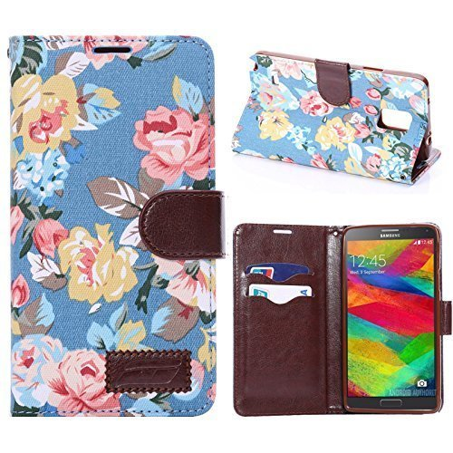 samsung-galaxy-note-4-vintage-blue-flower-magnetic-flip-tpu-denim-leather-wallet-flip-card-slot-stan