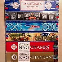 Räucherstäbchen Set Satya Nag Champa Aastha Chandan Natural Räucherware 90g preisvergleich bei billige-tabletten.eu