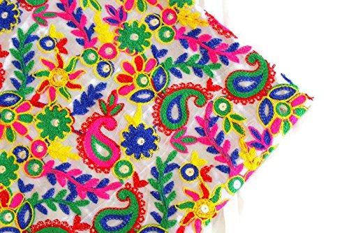 Generic indischer Stoff Rohseide Stoff Kutch Stoff bestickten Stoff Blumen Stoff indischen Kleid Stoff-Breite 44 Zoll-Preis für 01 Yard-Idf04 -