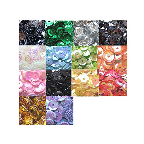 14 Farben 6 mm Pailletten basteln 5600Stück Rainbow Tasse Pailletten Bulk irisierend