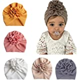Geagodelia Turbante para bebé, niña recién nacida, cinta para el pelo, gorro de verano, elástico, lazo, nudo