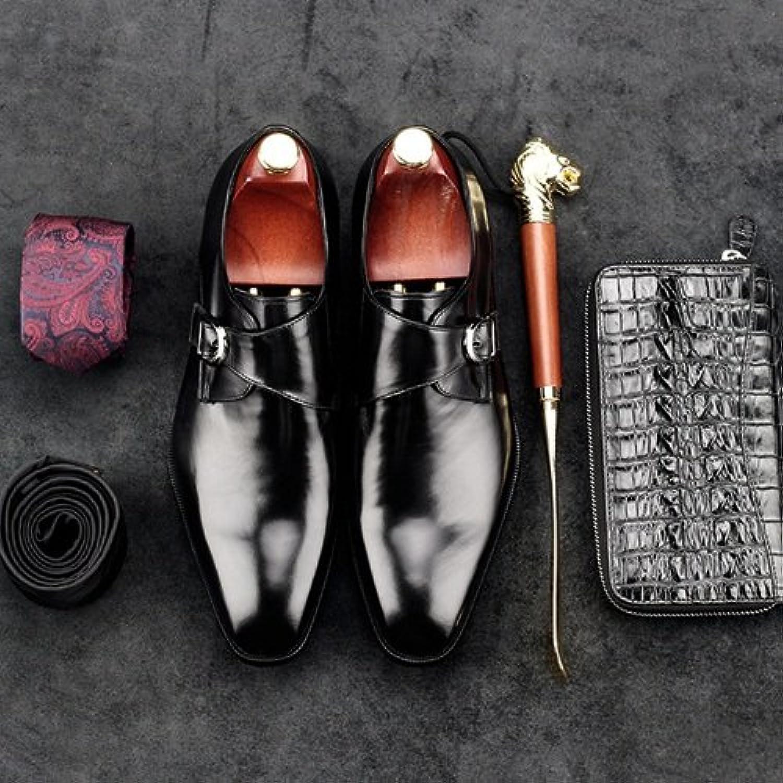 LHLWDGG.K Zapatos De Vestir De Los Hombres Zapatos De Oficina De Los Hombres De La Boda Nupcial, Negro, 6