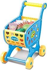 Kinder Einkaufswagen Spielzeug, mamum Einkaufswagen Obst Gemüse Pretend spielen Kinder Kid Educational Spielzeug Einheitsgröße blau