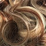 23' Clip In ONE PIECE WAVY CURLY Medium Brown/Blonde Mix #6/613 1pc 5 Clips