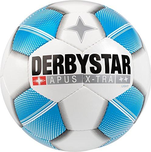 Derbystar Kinder Apus X-Tra Light Fussball, Weiß Blau, 5